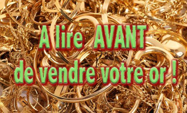 vendre bijoux or